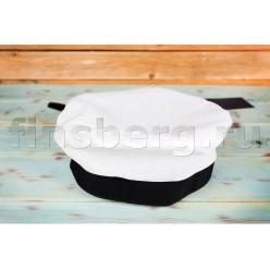 Бескозырка белая без надписи (пластмассовая регулировка)